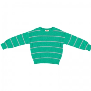 KNITTED STRIPED JUMPER logo