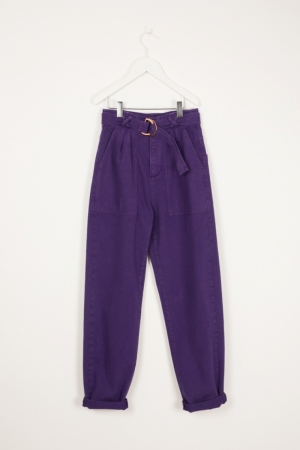 TROUSERS WITH BELT logo