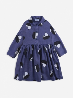 DOGGIE ALL OVER BUTTONED DRESS logo
